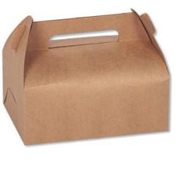 Κουτί με λαβή 20x15x8 κραφτ