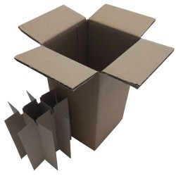 Χαρτοκιβώτια 25 Τεμ 11x11x21 για φιάλες 100ml Φ3,7