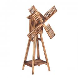 Ανεμόμυλος ξύλινος 27 x 24,5 x 78,5 cm με φτερωτή φ50