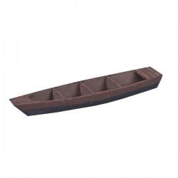 Βάρκα καφέ ξύλινη 56 x 12 x 8 cm