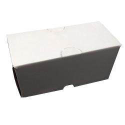 Χαρτοκιβώτιο 16x7x7 λευκό DIE CUT (πρέσας)
