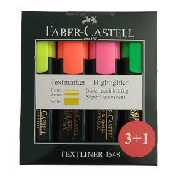 Μαρκαδόροι υπογραμμίσεως Faber Castell σετ 4 τεμ