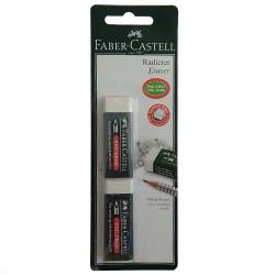 Γόμα λευκή Faber Castell 2τεμ