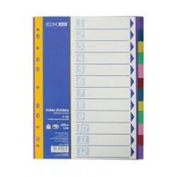 Διαχωριστικά χρωματιστά αριθμημένα 1-10