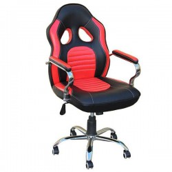 Καρέκλα Γραφείου Μαύρο-Κόκκινο 59x70x105