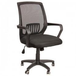 Καρέκλα Γραφείου Δίχτυ Μαύρη με Πλαστική Βάση