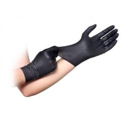 Γάντια νιτριλίου μαύρα extra strong  x.π. 100 τεμ Large