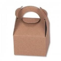 Κουτί με λαβή 9x9x7,5 κραφτ