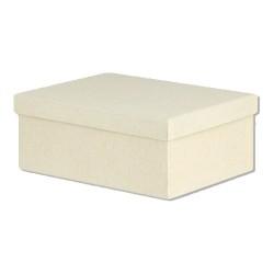 Κουτί Παραλληλόγραμμο Εκρού 15 x 11 x 7