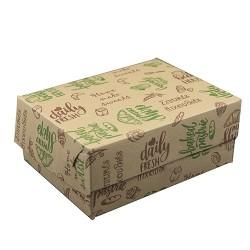 Κουτιά ζαχαροπλαστικής Νο10 κραφτ με σχέδιο / 10 Κιλά
