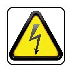 Πινακίδα ''κίνδυνος ηλεκτροπληξίας'' 20x25 αυτ/λητη