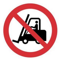 Πινακίδα ''απαγορεύονται τα περονοφόρα'' 20x25 αυτ/λητη