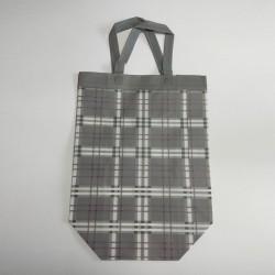 Τσάντες non woven γκρι καρώ 31x35x15 12Τεμ.
