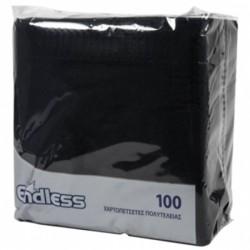 Χαρτοπετσέτες Μαύρες 38x38cm ENDLESS Πολυτελείας