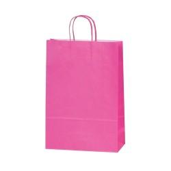Τσάντα φούξια με στριφτή λαβή 18x20x8