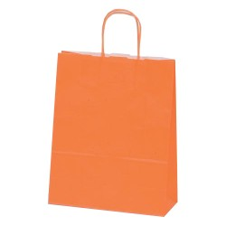 Τσάντα πορτοκαλί με στριφτή λαβή 18x20x8