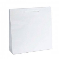 Τσάντα 20x20x9 λευκό ματ με κορδόνι 25 Τεμ