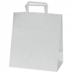 Τσάντες λευκές με πλακέ λαβή 18x25x8