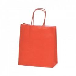 Τσάντα κόκκινη με στριφτή λαβή 18x20x8