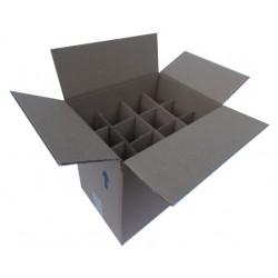 Χαρτοκιβώτια 25 Τεμ 21x16x22 για φιάλες MARASCA 250 ml