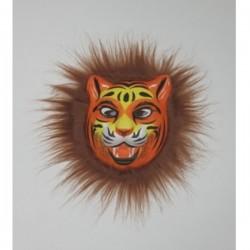 Μάσκα Με Άγρια Ζώα Πορτοκαλί-Καφέ Χαίτη