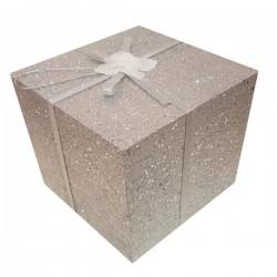 Διακοσμητικό Κουτί Δώρου 20 cm  Ασημί