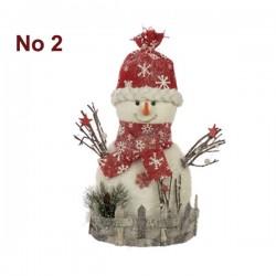 Διακοσμητικό Χιονάνθρωπος - Άγιος Βασίλης 26 x 14 x 44 cm