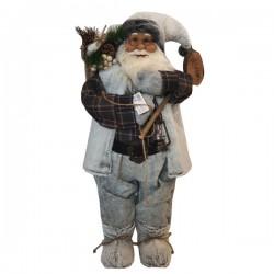 Άγιος Βασίλης Άσπρο - Καφέ 80 cm