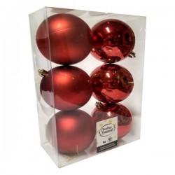Πλαστική Μπάλα 80 cm Κόκκινη Σετ 6 Τεμαχίων