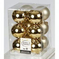 Πλαστική Μπάλα 80 cm Χρυσή Σετ 12 Τεμαχίων