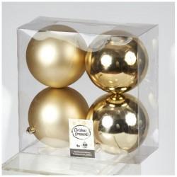 Μπάλα Πλαστική Σετ 4 Τεμαχίων Χρυσή
