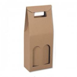 Τσάντα Δώρου 15,5 x 33 x 8 Καφέ 2 x 750ml