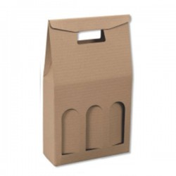 Τσάντα Δώρου 23 x 33 x 8 Καφέ 3 x 750ml