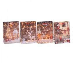Τσάντες 12 x 15 x 6 Ελάφια - Φανάρια 4 Σχέδια 12τεμάχια