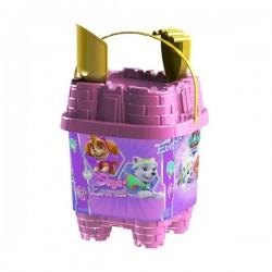 Κουβαδάκι κάστρο paw patrol ροζ σετ