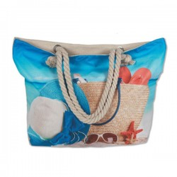 Τσάντα Καλοκαιρινό Σχέδιο Υφασμάτινη 91,5 x 36 x 13cm