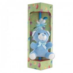 Λαμπάδα 40 cm με Κουκλάκι Μπλε