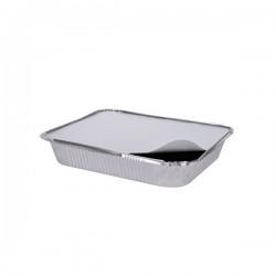 Ορθογώνια σκεύη αλουμινίου με καπάκι R45L  100 τεμ.