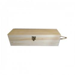 Κουτί ξύλινο για φιάλη 35x10x10cm με κορδόνι