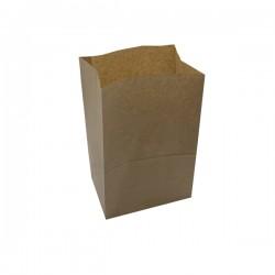 Τσάντα καφέ χάρτινη 26x16x35 cm με πάτο 100 τεμ.