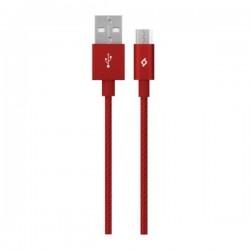 Καλώδιο Ttec AlumiCable Micro USB 1.2m - Φόρτισης Κόκκινο