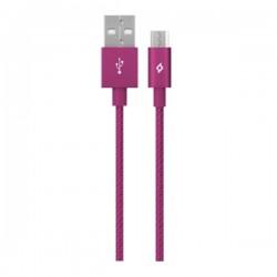 Καλώδιο Ttec AlumiCable Micro USB 120cm -Φόρτισης Ρόζ