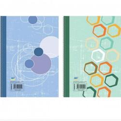 Τετράδιο σπιράλ 2 Θεμάτων Α4 PP Πλαστικό Εξώφυλλο